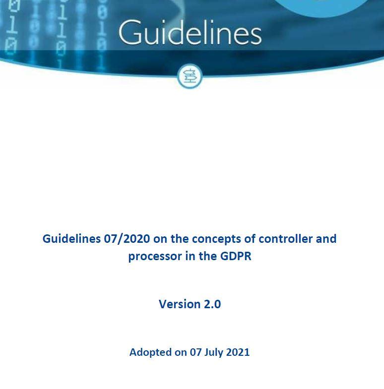 EDPB Guidelines 07 2020